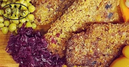 Butter-fried grated chops